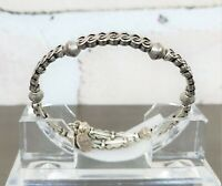 ALEX AND ANI Vintage 66 WINDING ROAD Silver Tone Wrap