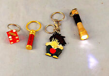 LOT OF 4 COLLECTIBLE KEYCHAINS NOVELTY FLASH LIGHT DICE CASINO DE-HNO-E