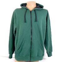 District Men's Concert Fleece Full Zip Hoodie Forest Green DT800 235UN