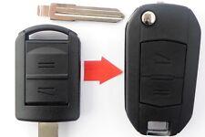 Klapp Schlüssel Gehäuse UMBAU HU46 OPEL Speedster Tigra Combo Corsa Astra