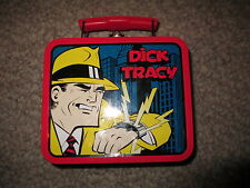Dick tracy lunch box tin, metal, storage, toy, case, container, collectable