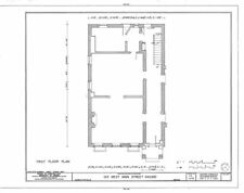 Authentic American Colonial Brick Town house plans, narrow lot home, traditional
