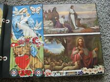 1960s VINTAGE SCRAPBOOK Religious Pictures Holiday Animals Babies- FULL 35 Pages