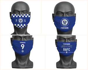 Personalised Rochdale AFC Face Covering / Mask Official Adult RAFC The Dale