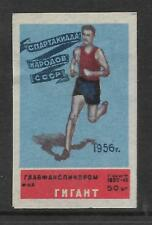 RUSSIA 1956 MELBOURNE OLYMPIC GAMES MATCHBOX LABEL ATHLETICS Blue