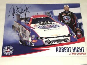 Robert Hight 2018 AAA SoCal CAMARO autographed NHRA 8x10 HERO CARD photo HTF!