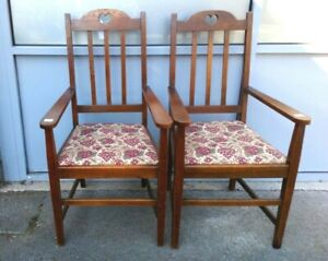 A Pair of Antique Chair Art & Craft Liberty Style