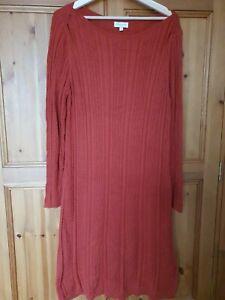 Monsoon Autumn Jumper Dress XL 16 18 Wool Blend