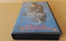 A Nightmare On Elm Street Part 3 Dream Warriors..Big Box Ex Rental VHS Cert 18
