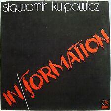 Slawomir Kulpowicz IN/FORMATION - Vinyl LP Near Mint