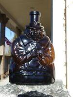 Vintage Embossed Man Figural Liquor Amber Bottle Van Duncks Genever Trade Mark