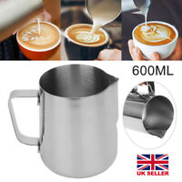 AM/_ LN/_ 350//600//1000ML SPOUT PITCHER COFFEE CUP LATTE CREAM FROTHING MILK JUG FA
