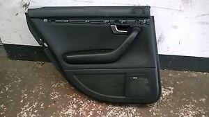Audi A4 Avant Estate 2005 Passenger Rear Door Card Near Side Rear in Black
