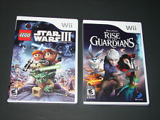 LEGO STAR WARS III + RISE OF THE GUARDIANS  (2 Games KIDS Nintendo Wii Lot)