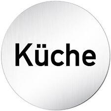 "Aluminium Schild 10 cm Ø ""Küche"" Türschild • Tür • Wand • Alu • Privat •Personal"