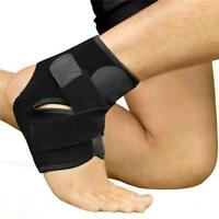 Adjustable Ankle Foot Support Elastic Brace Guard Football Basketball Black Q