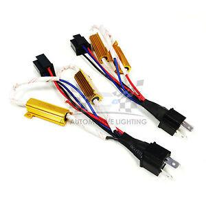 HID LED Resistor Kit Relay Harness Adapter Anti Flicker Error Decoder H4 9003