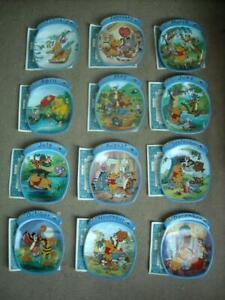 Set of 12 WINNIE THE POOH The Whole Year Through Plates Bradex Disney Plate