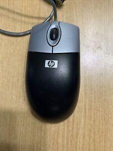 Genuine HP Optical PS/2 Mouse MO42KOA, Transparent Blue, Used