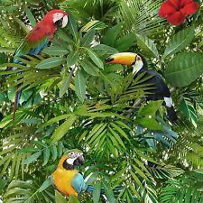 Muriva Tropicale Giungla Pappagalli Sulla Foresta Di Alberi Live Carta Da Parati