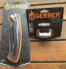 Gerber Myth Hunting Folding Bone Saw Knife 1167 & Headlamp Headlight 31-001259