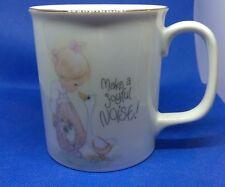 """Vtg Enesco Cup Mug """"Make A Joyful Noise"""" Precious Moments 1984 Jonathan & David"""