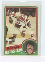 MEL BRIDGMAN 1984-85 Topps  Hockey Card #84 New Jersey Devils