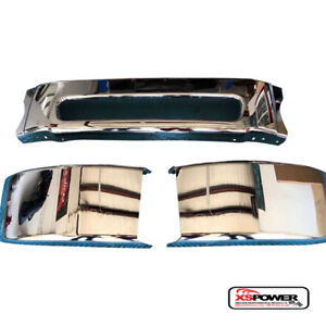 """2003 - 2007 Freightliner M2 106 front Chrome bumper and 29.92"""" bumper ends 3pc"""
