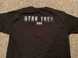 STAR TREK 2009 movie rare Paramount promo t-shirt Adult XL JJ Abrams Bad Robot