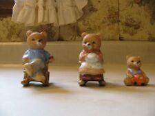 Retired Homco Home Interiors 3 Mini Bears 1470