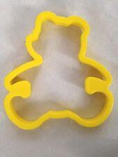 """Yellow 3 1/4"""" Bear Cookie Cutter Art Mold"""