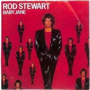 "Rod Stewart Baby Jane UK 7"" Vinyl Record Single 1983 W9608 Warner Bros. 45 EX"