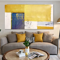 Abstract Yellow Canvas Art Print Oil Painting Picture Wall Hanging Home Decor
