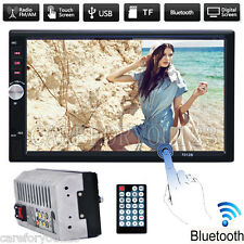 """7"""" Double 2 DIN Bluetooth In Dash Car Stereo MP5 Player FM/AUX Audio Touch Radio"""