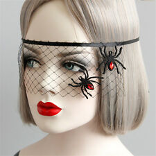 Gothic Veil Mask Headband Hairband Spider Halloween Cosplay Party Masquerade