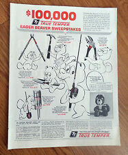 1968 True Temper Eager Beaver Sweepstakes Ad Spin Casting Rod Reel Combination