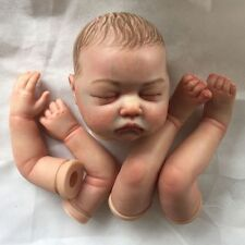 reborn doll kits with painted hair,painted limbs and magnetic mouth, realistic
