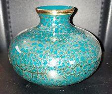 Ceramic Pottery Vase Blue Crack Patterned Antique vintage