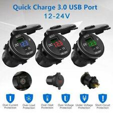 Cargador rápido USB QC3.0 toma de corriente con interruptor para Coche Camión