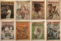 Vintage The Sporting News 8 ISSUES from 1970's MLB NFL Baseball Football lot