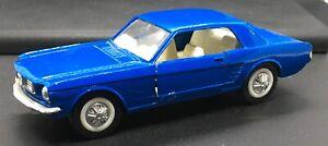 VINTAGE MAJORETTE 1/32 SCALE DIE-CAST 1966 BLUE FORD MUSTANG COUPE