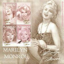 St. Vincent 2004 - SC# 3189 Marilyn Monroe, Art Drawing - Sheet of 4 Stamps MNH