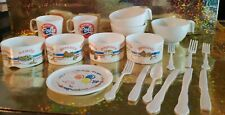 Lot Of Vintage Play Dishes Magic Cola Pretzel Candy Popcorn