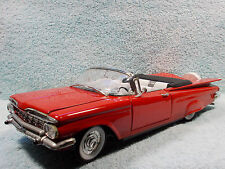 1/18 SCALE 1959 CHEVY IMPALA CABRIOLET TOP DOWN IN RED BY YAT-MING NO BOX.