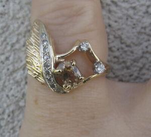 $2,750 Tourmaline Diamonds 14k Yellow Gold Ring