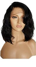 10A Handmade 100% brazilian Human Hair wig with Lace closure colour 4 brown...