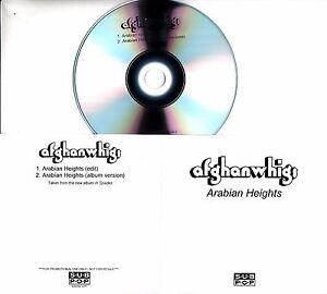 AFGHAN WHIGS Arabian Heights 2017 UK 2-trk promo test CD