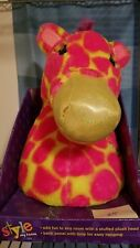 New in Box - Justice Zebra Giraffe Wall Art Plush Style my Room Doll Pink Yellow