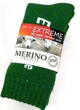 3 PAIRS LADIES SZ 7-11 GREEN MERINO WOOL THERMAL CUSHION FOOT WORK SOCKS