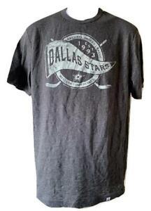 New Dallas Stars Mens Size S-M-2XL Gray Majestic Shirt